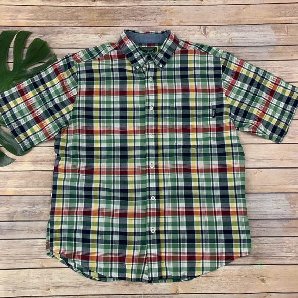 Woolrich Other - Woolrich men's green red plaid button down shirt